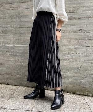 PAGEBOY/新品タグ付き/ストライププリーツラップスカート