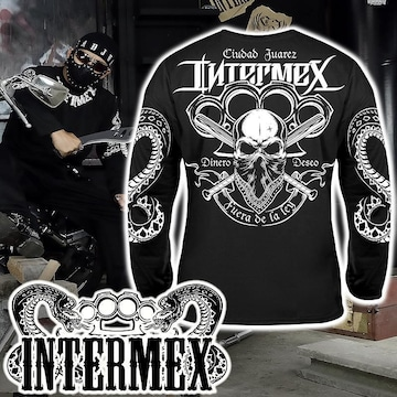 XXL 長袖 Tシャツ 服 メンズファッション ロンT 黒 ギャング バイカー チカーノ オラオラ 43