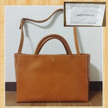購入35000円 未使用 MONTEROSA モンテローザ 2way レザーバッグ