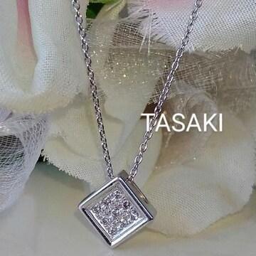 TASAKI☆K18WG 天然ダイアモンドネックレス☆絶品ダイア!