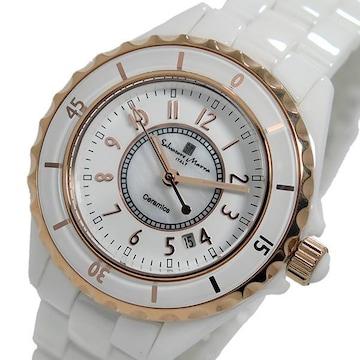 サルバトーレマーラレディース 腕時計 SM15151-PGWHA