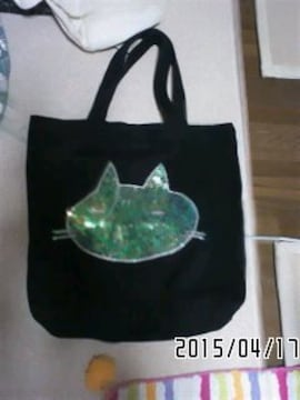 mintNeko・スパンコールネコフェイス*スウェットトートバッグ