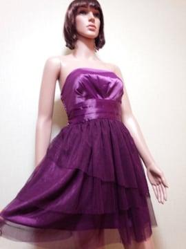 未使用品☆キャバ☆光沢プリーツ&チュールのドレス☆3点で即落