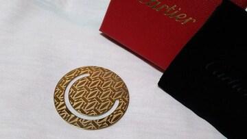 正規未レア カルティエ ランダム2Cロゴ ハッピーバースデー マネークリップ ゴールド 財布