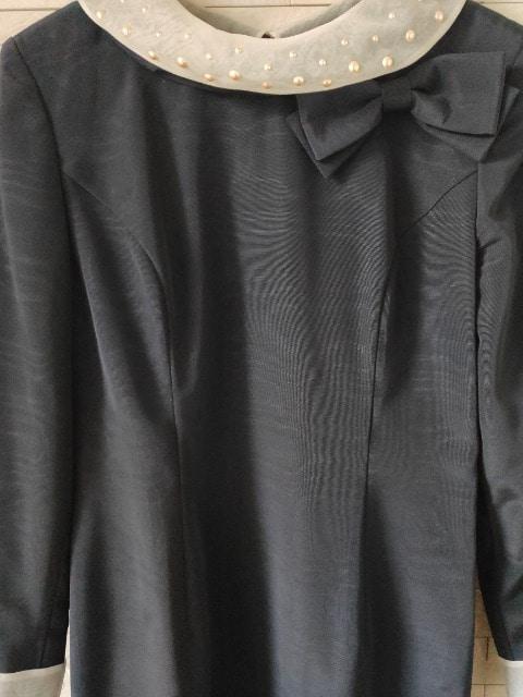 VIVID FORMAL BOUTIQUE リボンフォーマルワンピース 紺 9A3 < 女性ファッションの