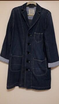 美品 ボーダー柄チラ見えの可愛いデニムジャケット