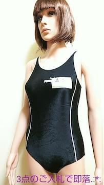美品☆PUMA☆150☆光沢ブラック記名の競泳 水着 3911☆3点で即落