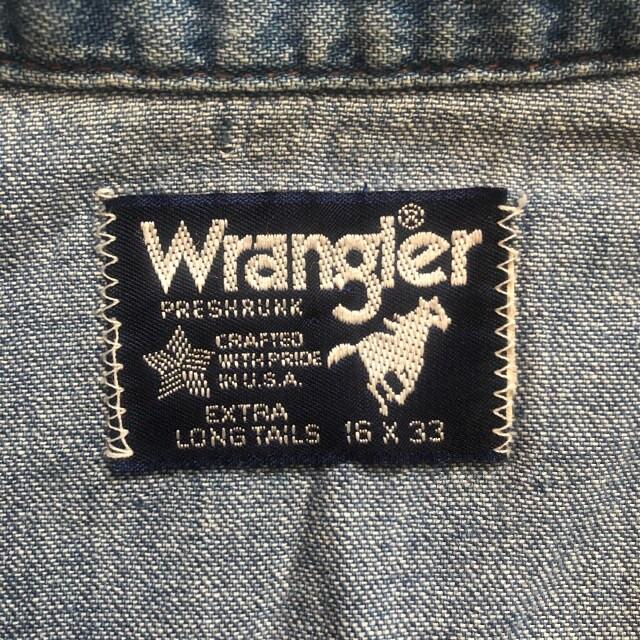 Wrangler ラングラー ウエスタン シャツ デニム 80s オールド ヴィンテージ ビンテージ < ブランドの