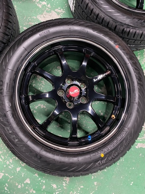 7071564)美品レアマイスタ-LMスポ-ツ7J+45新品タイヤセット205/55R16送料無料 < 自動車/バイク