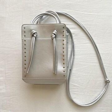 スタッズ付きミニタテショルダーバッグ