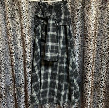 rienda フロントリボンロングスカート
