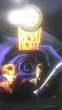 未使用 貴重!当時モノ B'z RISKYリスキー ポスター  1990