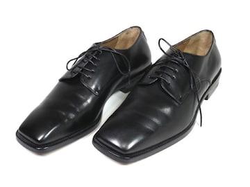 正規美品ルイヴィトン靴レザーシューズ25.0cm#6黒ビジ