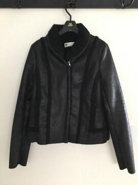 SLY スライ ヴィンテージ風 ライダース ジャケット コート 裏ボア 黒 ブラック アウター