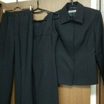 美品 黒 無地 Nowhere パンツ ワンピース スーツ