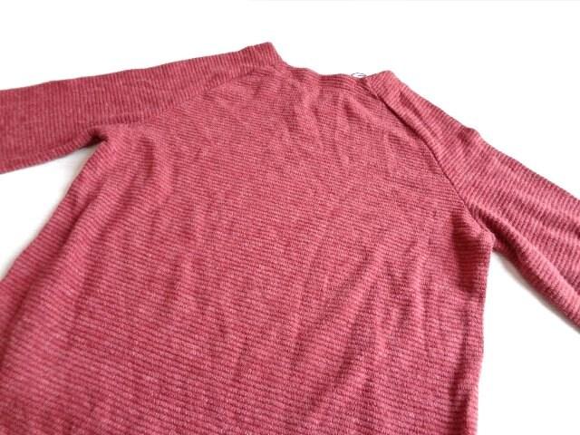 新品 GRL グレイル ピンク ワイド袖 Vネック ニット セーター < ブランドの