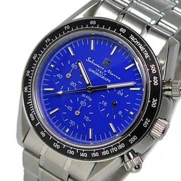 サルバトーレ マーラ クロノ 腕時計SM15111-SSBL ブルー