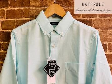 表記M/新品!7分袖 BD ボタンダウンシャツ 無地 アメカジ サーフ 西海岸スタイル