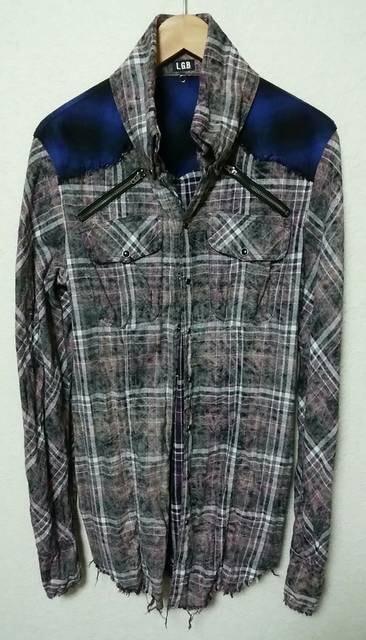 l.g.b. shirt-g/m チェックシャツ lgb ルグランブルー yasu  < ブランドの