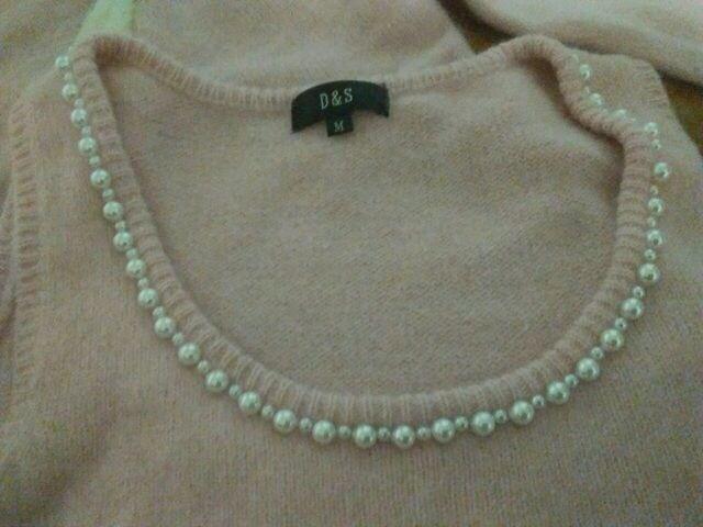 D&S Mサイズ ピンク ニットアンゴラ入り 美品 < 女性ファッションの