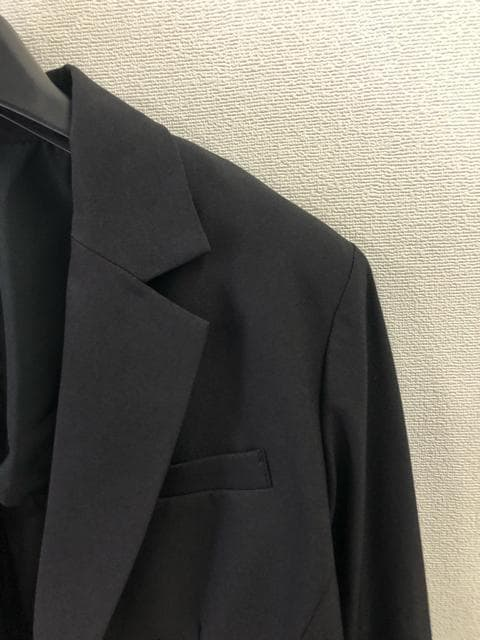 新品☆19号ストレッチスカートスーツ黒オールシーズン☆d227 < 女性ファッションの