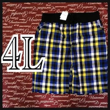 4L・ブロックチェックハーパン・綿 新品/MCX407-ne1