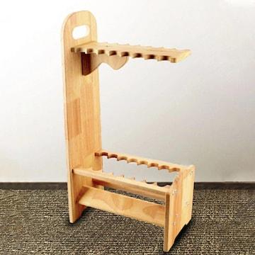 ロッドホルダー 木製 16本 DIY ロッドスタンド