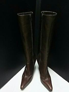 最値定価3万ピンキー&ダイアン高級牛革レザーサイドジップブーツ