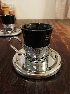 新品◆昭和レトロ  コーヒーカップ 純喫茶風 アンティーク ペアカップ お二人様