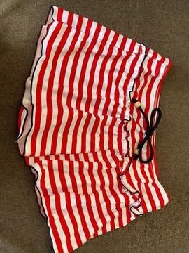 中古 水着の上に着るスカート風ショーパン 同梱大歓迎