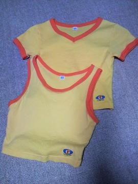 Tシャツ&タンクトップ/セット/訳あり Mサイズ/黄色/オレンジ