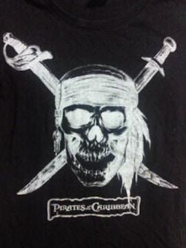 ディズニー パイレーツ オブ カリビアン ドクロ デザイン ユニクロ Tシャツ ブラック Sサイズ