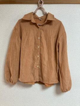 シャツ ブラウス ブラウン系