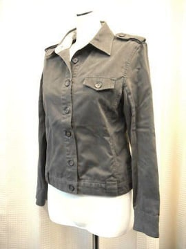 【u.b.n】チャコールグレーの綿ジャケットです