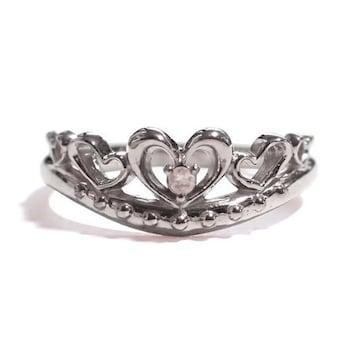 【6月の誕生石ムーンストーン】シルバー925リング 指輪 ティアラ