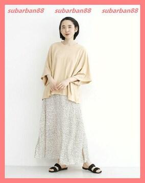メルロー☆超美品☆大人カワイイ♪レトロ柄フレアマキシスカート