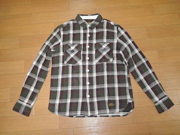 NEIGHBORHOODネイバーフッドCABELLAチェックネルシャツM緑系