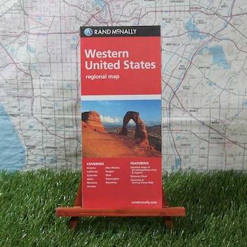 新品【輸入地図】アメリカ西部 Regional Map -Rand McNally-