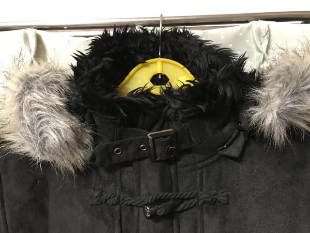 新品未使用ブラック黒色ボアメンズムートンダッフルコートファー < 男性ファッションの