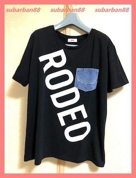 ロデオクラウンズ☆超美品完売デニムポケットビッグロゴTシャツ