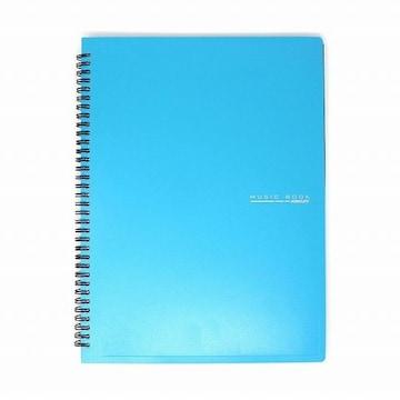 リング式 楽譜ファイル 書込みOK 60枚収納 青 1/BVJ