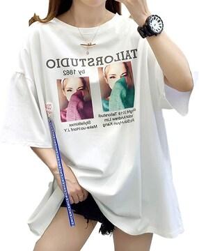 お試し2490円★新作 ゆったり ビッグTシャツ 白M