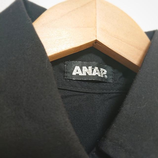 送料込み 新品未使用 ANAP アナップ 長袖ブラウス シャツ < ブランドの