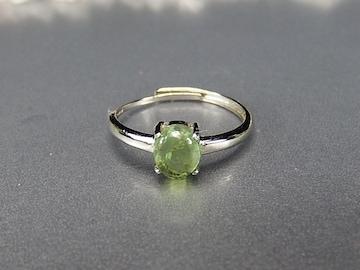 ペリドット指輪シンプルリング銀925天然石18号石街U0270