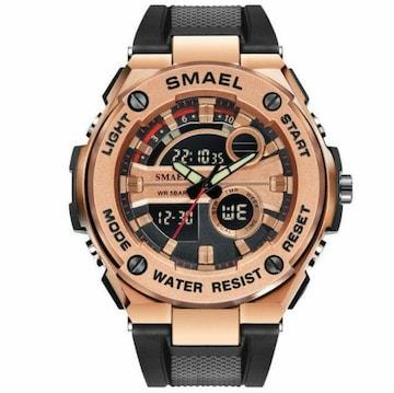 新品 送料無料 SMAEL 多機能 メンズ 腕時計 防水 ミリタリー ブ