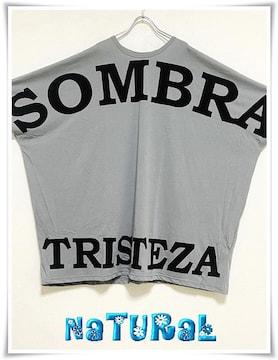 新作★大きいサイズ〜10L SOMBREロゴBigTシャツワンピ*灰