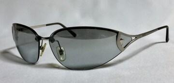正規良レア ヴェルサーチVERSACE メデューサロゴ メタルスポーティーサングラス 黒×クローム