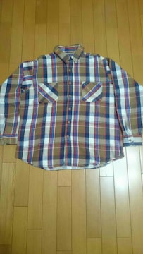70年代  BIG MACチェックネルシャツ