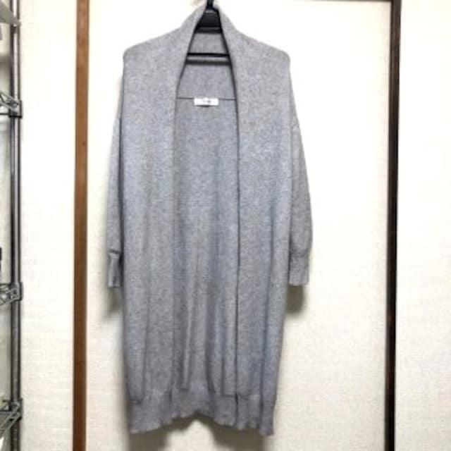 reca レカ ロング丈ニットガウン グレー < 女性ファッションの
