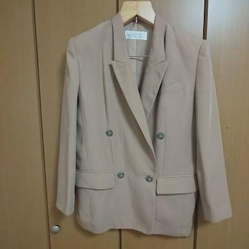 1回使用☆ジャケット☆薄い茶色☆大きいサイズ☆LLサイズ